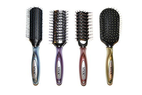 Viva Brilliance Professional Hair Brush Set (4 Pack)
