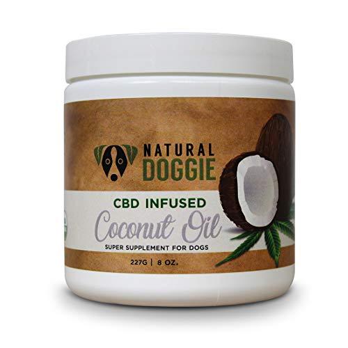 Natural Doggie Organic Hemp Infused Coconut Oil...