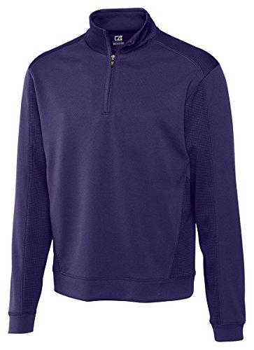 Cutter & Buck Men's CB Drytec Edge Half Zip Sweatshirt, Black, XX-Large