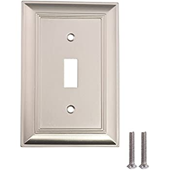 Amerelle Chelsea Single Toggle Steel Wallplate In Brushed