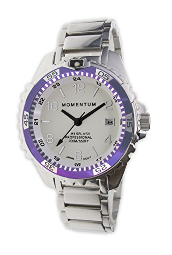 Momentum Women's Quartz Stainless Steel Diving Watch, Color:Silver-Toned (Model: 1M-DN11LP0) by Momentum