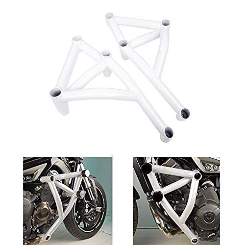 - MT 09 FZ 09 Tracer Guards Motorcycle Highway Crash Bar Protectors for 2014-2016 Yamaha MT09 FZ09 MT-09/FZ-09/Tracer (White)