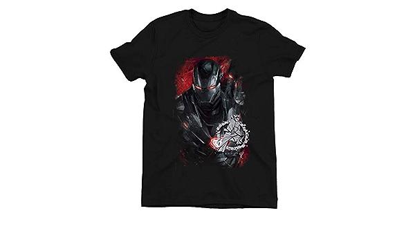 Avengers Endgame War Machine Children/'s Unisex Black T-Shirt