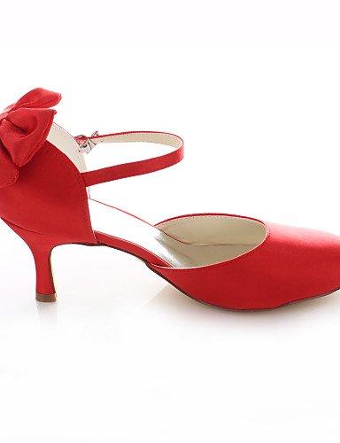 GGX/ Damen-Hochzeitsschuhe-Absätze / Rundeschuh-High Heels-Hochzeit / Kleid / Party & Festivität-Rot 2in-2 3/4in-red