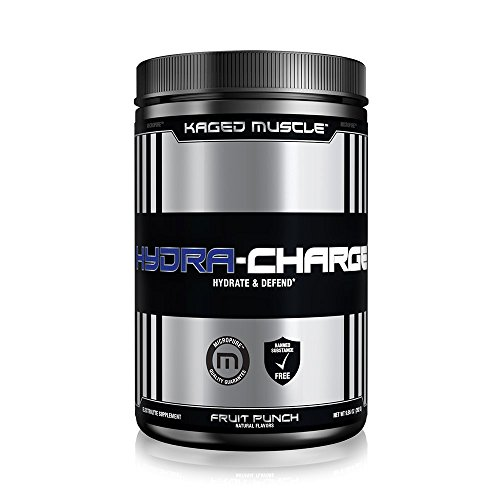 Pre Training (KAGED MUSCLE – Hydra Charge Premium Electrolyte – 60 Servings – Hydrate Faster – Fruit Punch Flavor – Mixes Perfectly with Pre-Intra and Post -Workout Stacks – Tastes Great)