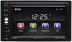 Pump out your playlists with the Boss Audio BV9349B Double-DIN Mech-Less (No CD/DVD) Digital Media Receiver with a 6.2-inch Touchscreen Monitor. Connect your Smartphone or MP3 Player to the Auxiliary Input, turn on the AM/FM radio or plug int...