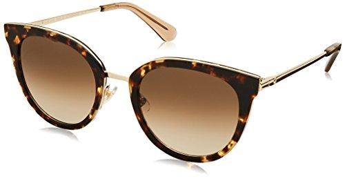 Kate Spade Women's Jazzlyn/s Round Sunglasses, Havana Gold, 51 mm