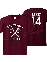 Mars NY Women's Unisex Teen Wolf Beacon Hills Lacrosse Lahey 14 Tshirt