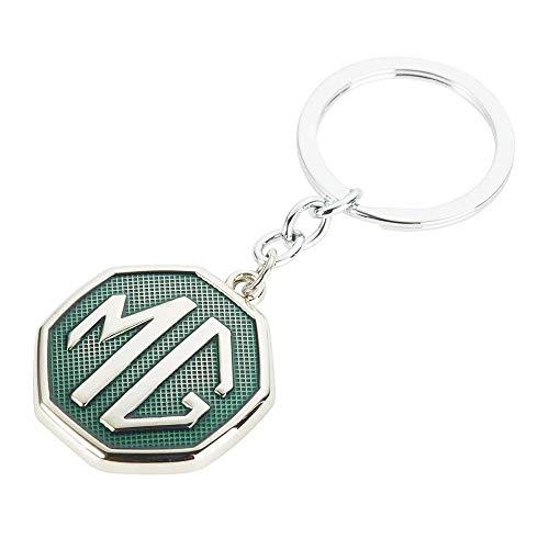 Green Sconosciuto MG Badge Ottagonale Metal Auto Logo Portachiavi