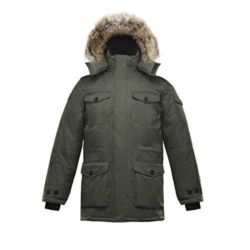 Triple F.A.T. Goose SAGA Collection | Eldridge Mens Parka Jacket (Small, Olive)