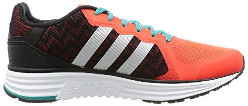 adidas Zapatos Cloud Foam Flyer, unisex, CBlack/MSilve/SolRed, EU 47 1/3 / UK 12 CBlack/MSilve/SolRed