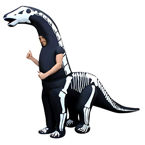Skeleton Diplodocus Inflatable Dinosaur Costume Adult Jurassic Giant One Size]()