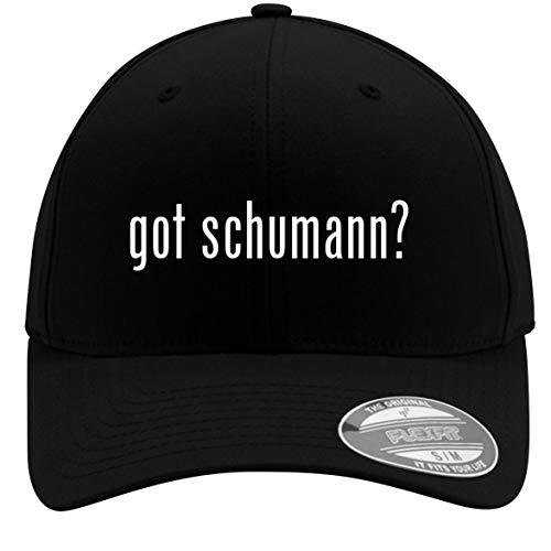 - got Schumann? - Adult Men's Flexfit Baseball Hat Cap, Black, Small/Medium