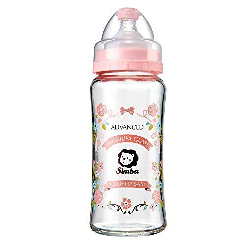 Simba Crystal Romance Wide Neck Borosilicate Glass Feeding Bottle - 9 oz -