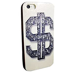 QHYFlash Powder TPU Dollar Symbol Pattern Soft Back Case for iPhone 5/5S
