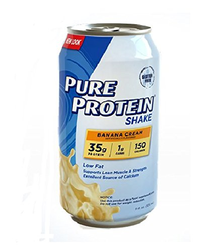 Pure Protein 35g Shake - Banana Cream, 11 ounce (Pack of 12)