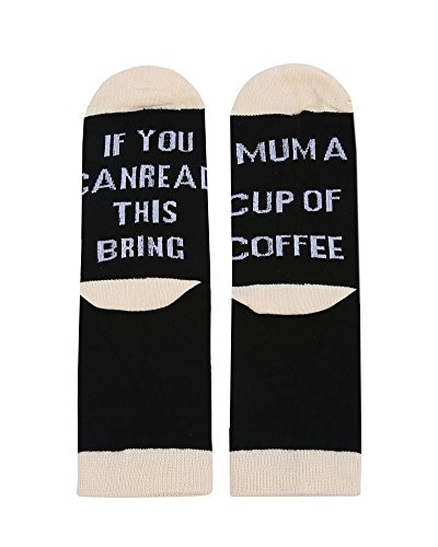 Mafulus Unisex If You Can Read This Socks Bring Me Beer Knit Funny Word Cotton Crew Socks
