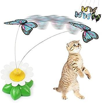 BADALink Juguete Mordedor Electrónica para Gato Mascota ,Mariposas: Amazon.es: Juguetes y juegos