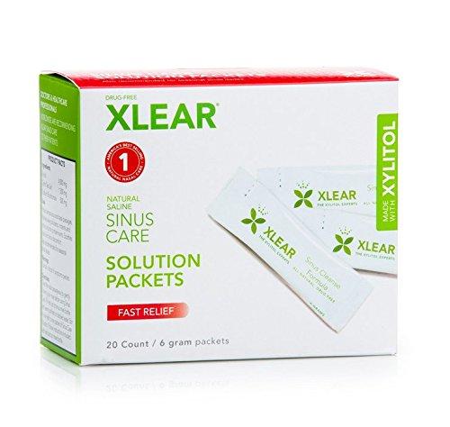 XLEAR vasija paquetes, Natural xilitol y relleno sal solución -20 cuenta