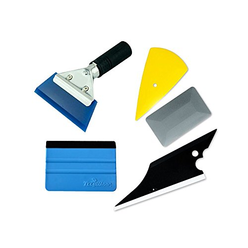 7MO Installation Tool Kit for Auto Car Window Solar Film Trim with Replaceable Handled Rubber Squeegee,Felt Edge Squeegee 1 Set
