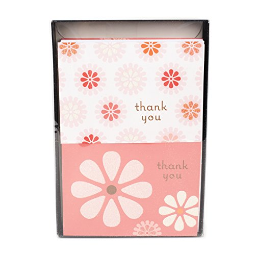 otes (Pink Flowers, 50 Cards and Envelopes) (Pink Flower Note Card)