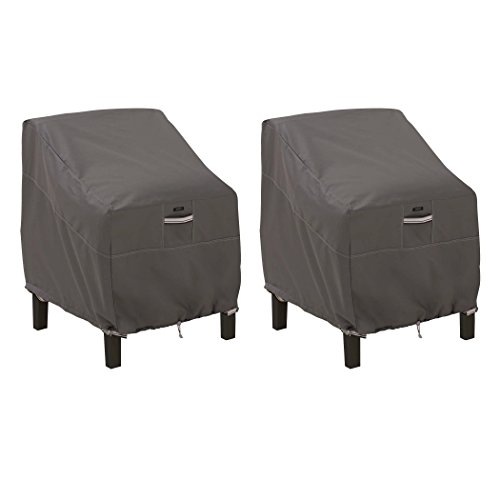 Classic Accessories 55-160-015101-2PK Ravenna Patio Lounge Chair Cover, Large (2-Pack)