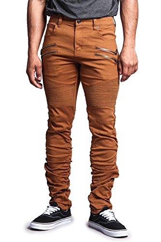 G-Style USA Scrunch Stacked Biker Twill Pants - DL1023 - Dark Wheat - 32/30 - R11E