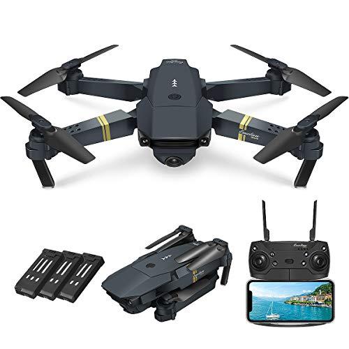 Quadcopter Drone With Camera Live Video, EACHINE E58 WiFi FPV Quadcopter with 120° FOV 720P HD Camera Foldable Drone RTF…