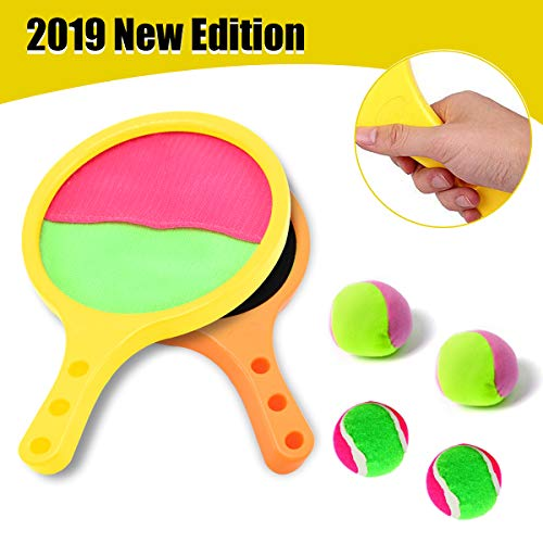 Yehtta Outdoor Toys for 3-8 Year Old Boys Toss & Catch Game Racket Set Tennis Baseball Summer Game Sand & Beach Toys for Kids Gifts