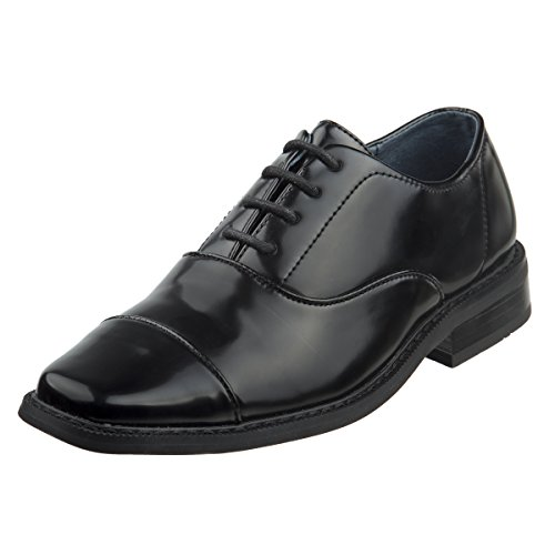 Joseph Allen Boys Wing Tip Perforated Oxford Dress Shoe (Toddler, Little Kid, Big Kid) (6 M US Big Kid, Black Cap Toe)' by Joseph Allen (Image #5)
