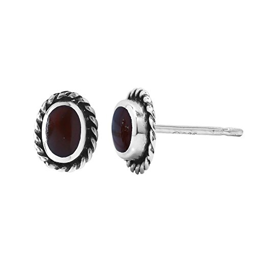8d0db5980 Boma Jewelry Sterling Silver Oval Rope Texture Stud Earrings ...