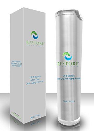 Meilleure crème anti-âge pour des résultats durables vite! Crème pour le visage anti-rides éprouvée pour resserrer la peau, réduire la taille des pores, et double la production de collagène, de réduction des rides jusqu'à 60% avec Dr.O recommandé 10% Argi