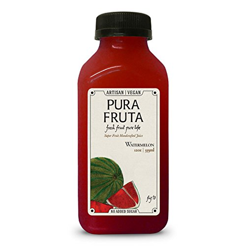 Pura Fruta Cold-Pressed Watermelon Juice 12oz (Pack of 6) Pure Juice