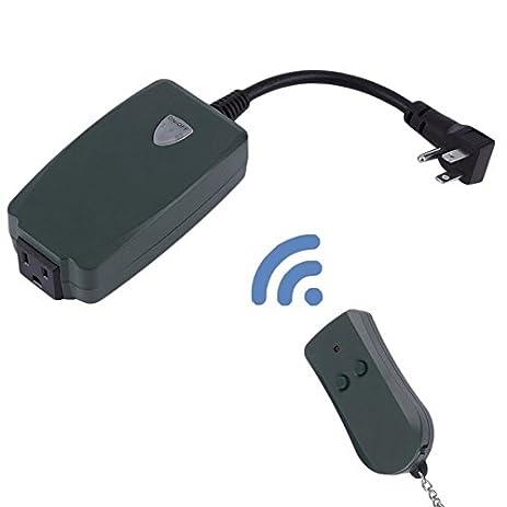 Remote Control Outdoor Light Switch Amazon outdoor remote control outlet wireless light switch outdoor remote control outlet wireless light switch socket us plug waterproof di workwithnaturefo