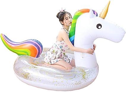 70CM Licorne Transparent Sequins Details about  /Adult PVC Safety Swim Pool Water Toys
