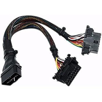 Amazon Com Universal 16 Pin Obd 2 Obdii Male Connector