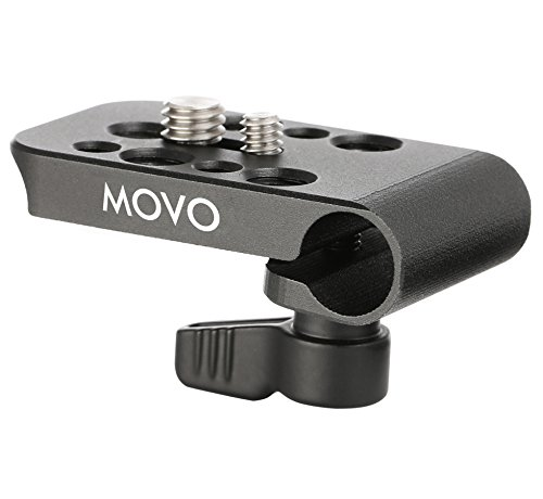 Movo CAB1000 15mm Modular Rod Clamp Adapter - Mounts Cameras, Monitors, Recorders to Rigs with Multiple 1/4