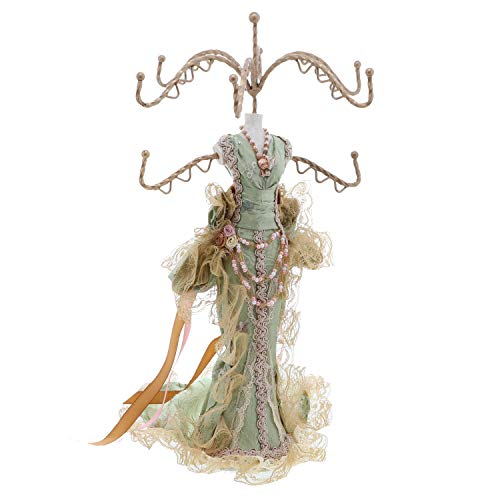 - Li'Shay Exquisitely Embroidered Gown Mannequin Necklace Stand-Green
