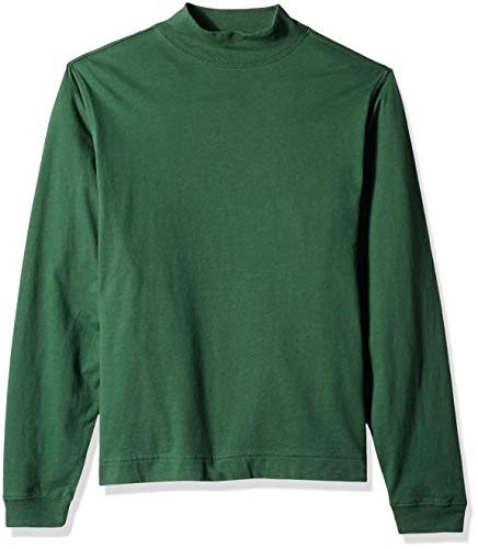(D & Jones Men's Sueded Cotton Jersey Mock Turtleneck, FOREST 2XL)