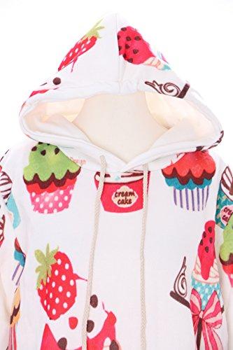 T-550 Sweet Deserts Cupcake Ice Cream Pastel Goth Lolita Pullover Kapuzen-Sweatshirt Harajuku Japan Kawaii-Story