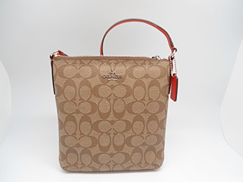 Coach Signature NorthSouth Crossbody 35940 KhakiOrange