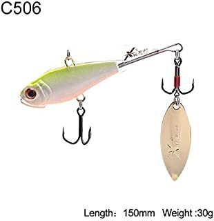 HATCHMATIC Uni Pêche Dur Lure 5 Tailles Sinking VIB Wobblers Souple Body Design avec Tour de Batte oon Aftificial Decoy Modèle 3520B: 150mm 30g C506