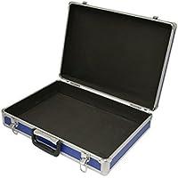 SRA Cases EN-AC-FG-A019 Aluminum Hard Blue Brief Case, 18.1 x 13.3 x 4.5 Inches Foam