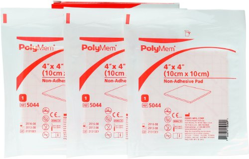 Polymem 4'' x 4'' Non-Adhesive Pad (Pack of 3) Wound Dressing by Ferris