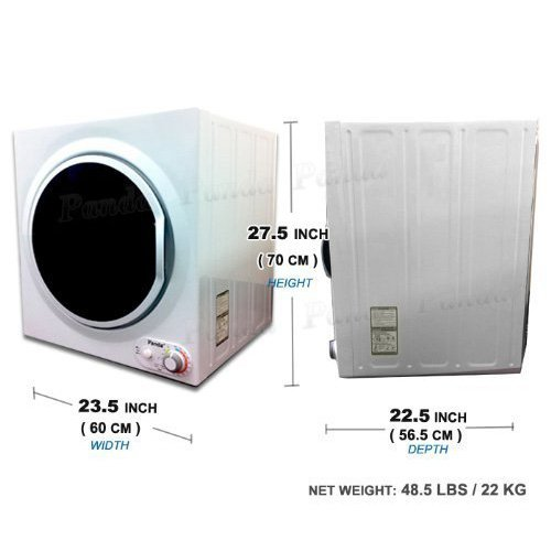 Panda Compact Dryer 3.75cu.ft 110V Apartment Size, White and Black,Stainless Steel Tumble by Panda (Image #1)