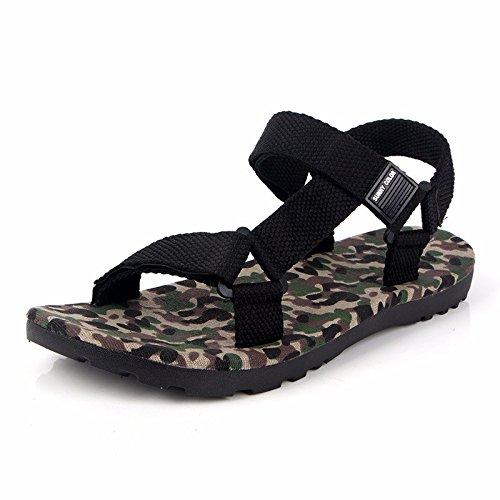 Sommer Rom Sandalen Männer Mode Das neue Tarnung Sandalen Männer Freizeit Strand Schuh ,Grün,US=7.5,UK=7,EU=40 2/3,CN=41