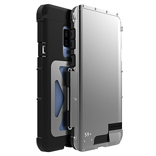 NEW R-JUST Luxury Metal Aluminum Shockproof Case Cover For Samsung Galaxy S9 Plus - Silver