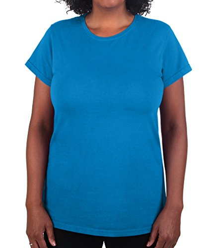 Have It Tall Womens T Shirt Premium Ringspun Cotton Made In USA Sizes ST - 2XLT Sapphire X-Large