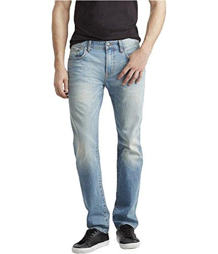 Aeropostale Mens 5 Pocket Skinny Fit Jeans, Blue, 27W x 28L
