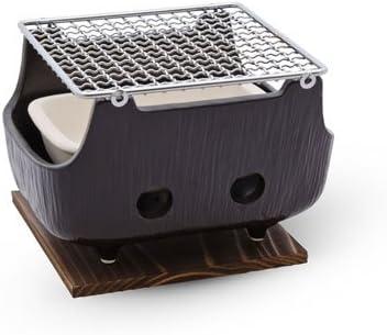 TableTop King Black Rectangular Charcoal Konro